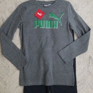 7/ 8 Boy Puma set long sleeved